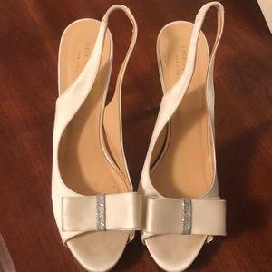 Lightly worn white Kate Spade Heels